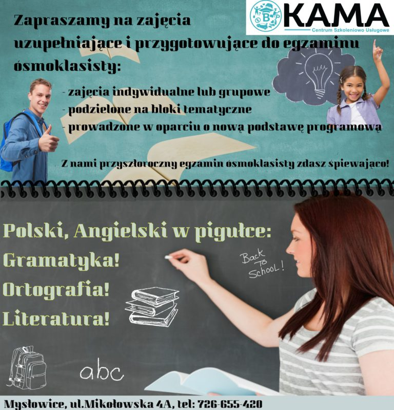 Zajęcia uzupełniające i przygotowujące do egzaminu ósmoklasisty